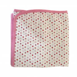 Baby Cotton Blanket, Pink with Dots