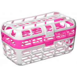 Munchkin High Capacity Dishwasher Basket, Pink