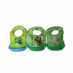 Best Baby Bibs For Eating, Green- Assortment