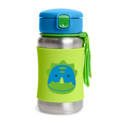 Skip Hop Zoo Stainless Steel Straw Bottle - Dino