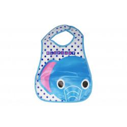 Plastic Baby Bib Waterproof, Elephant