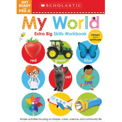 Scholastic Early Learners: Get Ready for Pre-k Workbook, Extra Big Skills Workbook, 68 pages