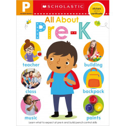 Scholastic Early Learners: Get Ready for Pre-K Skills Workbook: All About Pre-K, 24 pages