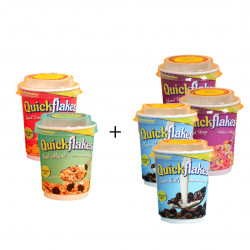 Quickflakes Mix Corn Flakes Cups, Different Flavors X6 cups