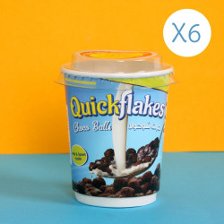 Quickflakes Choco Balls X6 Cups