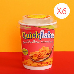 Quickflakes Sweet Corn Flakes X6 Cups