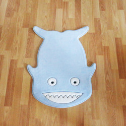 Kaison Cartoon Floor Mat, Blue Shark