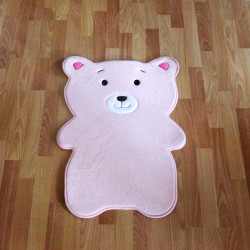 Kaison Cartoon Floor Mat, Pink Bear