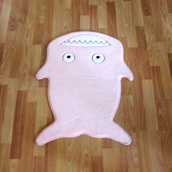 Kaison Cartoon Floor Mat, Pink Shark