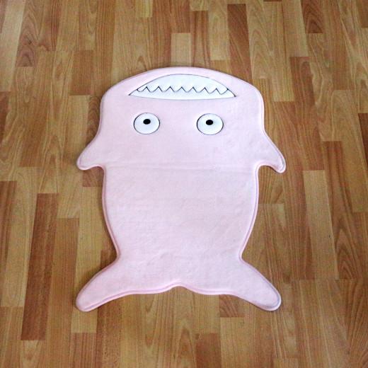 Kaison Cartoon Floor Mat, Pink Shark