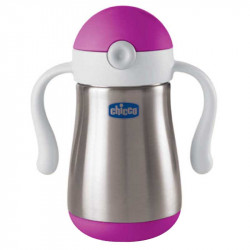 Chicco - Inox Power Cup 237ml - Pink