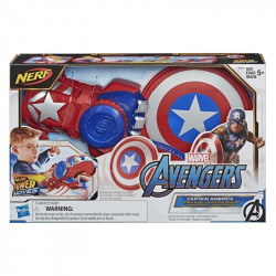 Marvel Nerf Power Moves Avengers Captain America Shield Sling Roleplay