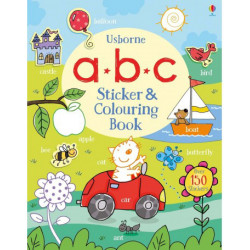 ABC Sticker and Colouring Book, 40 pages