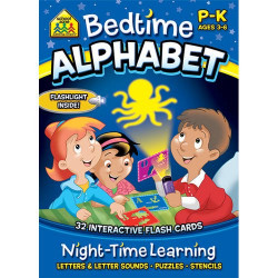 School Zone Bedtime Alphabet Cards, 32 cards