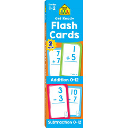 School Zone Get Ready Flash Cards Addition & Subtraction 2-pack, 112 cards