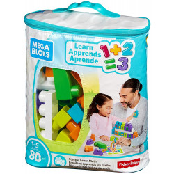 Mega Bloks Stack and Learn Math Building Set, 80 Pieces