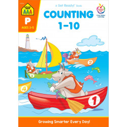 School Zone Counting 1-10 Preschool Workbook, 32 pages