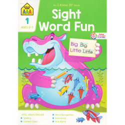 School Zone Sight Word Fun Grade 1 Workbook, 64 pages