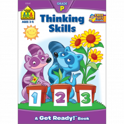 School Zone Thinking Skills Preschool Workbook, 32 pages