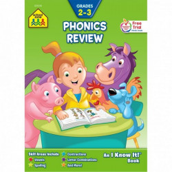 School Zone Phonics Review 2-3 Workbook, 32 pages