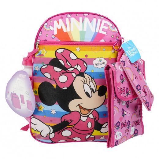 طقم حقيبة ظهر مكون من 5 قطع بتصميم ميني ماوس, 41 سم