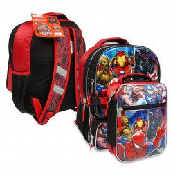 Large Marvel Heroes Backpack with Lunch Bag, 41 cm