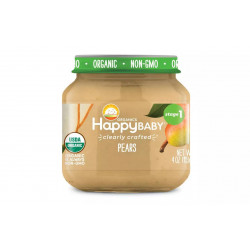 HappyBaby Clearly Crafted Pears Baby Food, 113 g