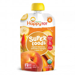 Happy Tot Super Foods Pouch of Banana, Peach, Mango & Super Chia, 120 g