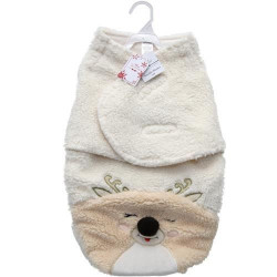 Mini Muffin Plush Fleece Reindeer Baby Swaddles, Size 0-3 m