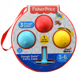 Fisher Price Dough Dots 7.5 Inch Carry Case 4 Pieces Set