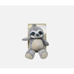 Gray Baby Sloth Wild Life Plush, Soft Cuddle Rattle Stuffed Toy