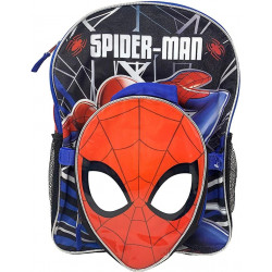 "Marvel Spiderman 16"" Backpack with Shaped Lunch Bag"