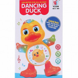Small Yellow Duck With Light And Music Swaying