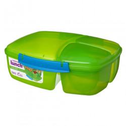 Sistema Triple Split with Yogurt Pot, 2 L, Green
