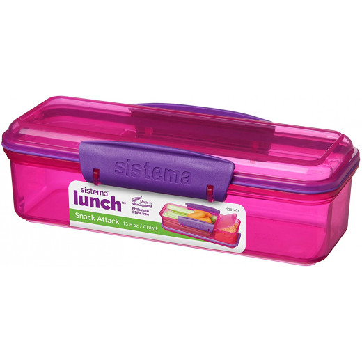 Sistema Lunch Snack Attack, 410 ml - Pink