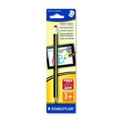 Staedtler 2 in1 Pencil & Jumbo Stylus For PC Tablets - Black