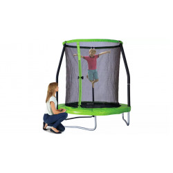 6ft Easi-Store Trampoline with Flip-Pad, Green