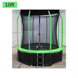 10 ft Trampoline with Safety Net, Light Green