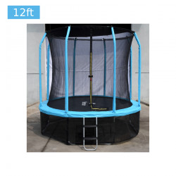 12 ft Trampoline with Safety Net, Light Blue