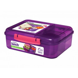 Sistema Bento Colored Lunch Box 1.65L - Purple