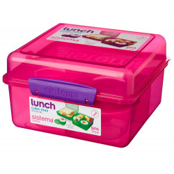 Sistema Lunch Cube Max With Yogurt 2L, Pink