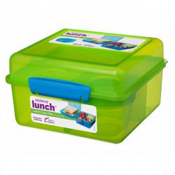 Sistema Lunch Cube Max With Yogurt 2L, Green