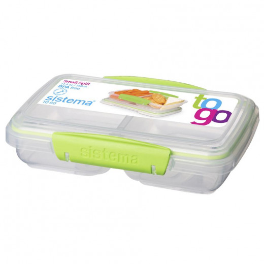 Sistema to Go 350ml Small Split Food Storage Container , Green