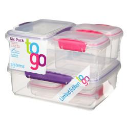 Sistema Six Packs, Purple & Pink