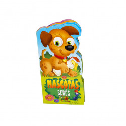 Spanish Baby Animal Board Book 6 Pages, Mascotas Bebes