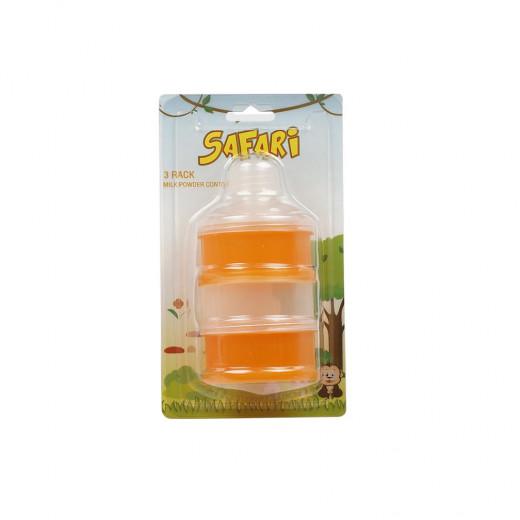 Safari Milk Powder Container 3 Pack, Orange