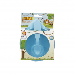 Safari Baby Bowel Set With Spoon, Blue