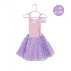Girls Dress Purple & Pink, 3-4 Years