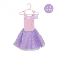 Girls Dress Purple & Pink, 7-8 Years