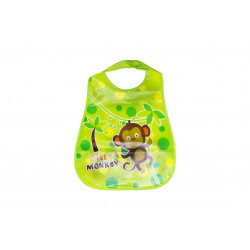 Plastic Baby Bib Waterproof, Silly Monkey
